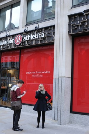 A view of the Lululemon Athletica store in London.