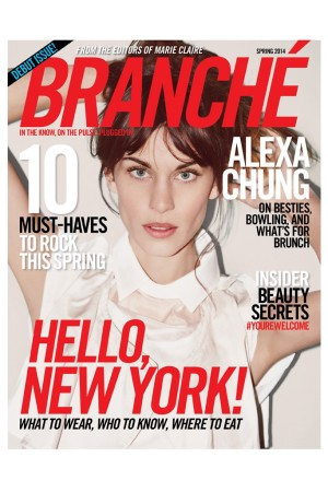 The cover of Branché's debut issue.