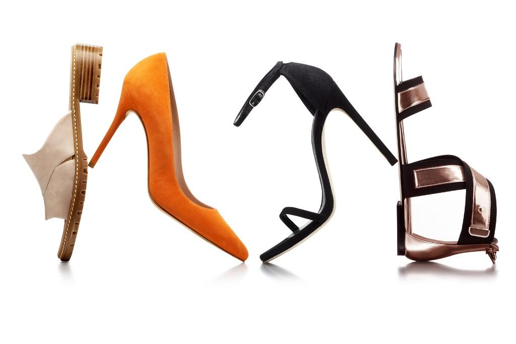 Styles from the Harper's Bazaar-Stuart Weitzman collaboration.