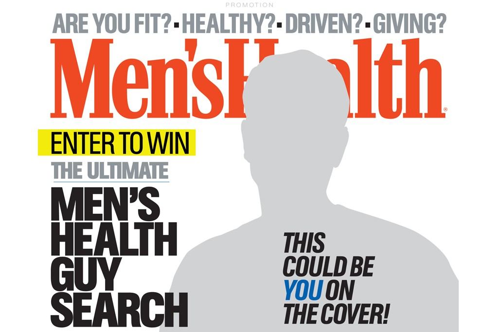 """The """"Ultimate Men's Health Guy"""" advertisement that will run in Men's Health's April issue."""