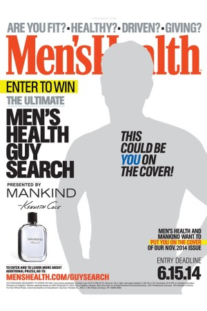 "The ""Ultimate Men's Health Guy"" advertisement that will run in Men's Health's April issue."