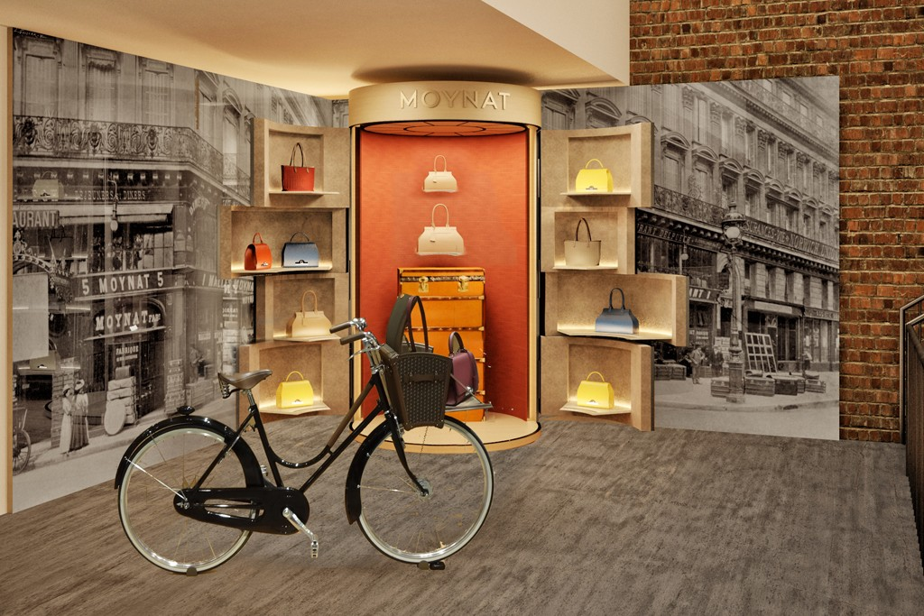 A rendering of the Moynat pop-up at Dover Street Market.