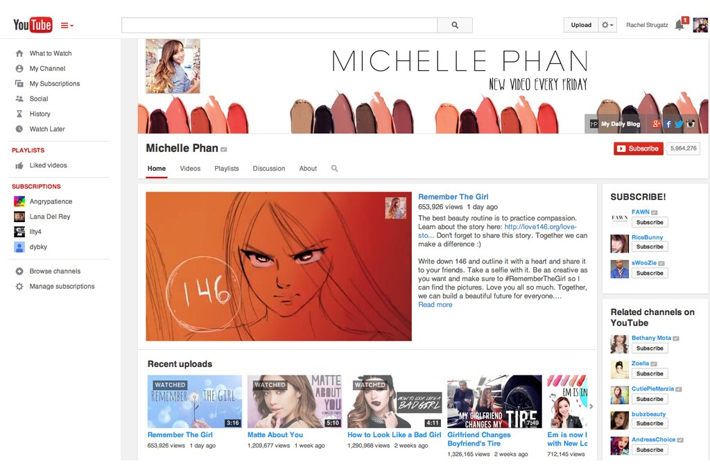 Vloggers like Michelle Phan are beating big brands in video views.