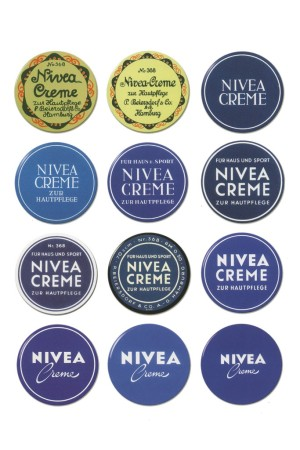 Nivea's iconic tin has had a few faces through the years.