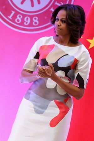 Michelle Obama in Carolina Herrera.