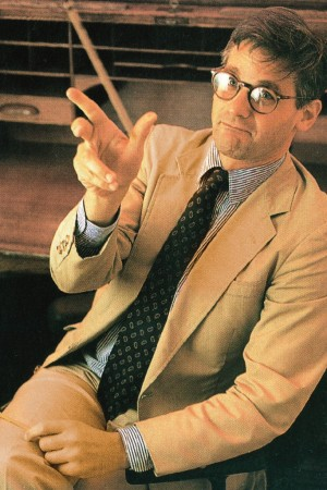 Peter Kaplan in a photograph taken for the November 1992 issue of M magazine.
