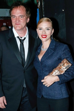Quentin Tarantino and Scarlett Johansson