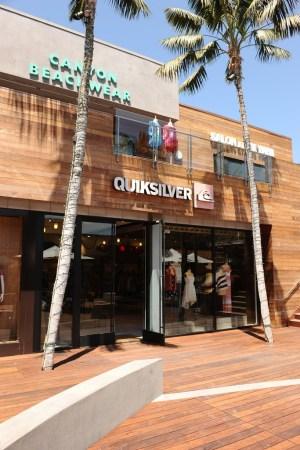 The Quiksilver women's store at the Malibu Lumber Yard.