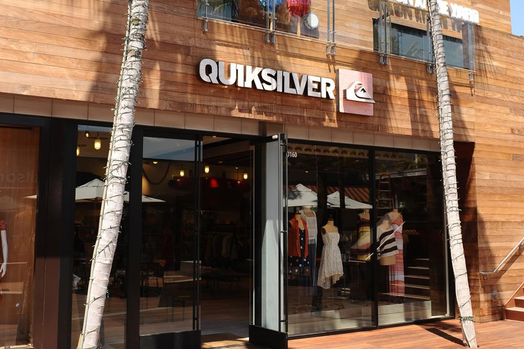 Ouside a Quiksilver women's store.