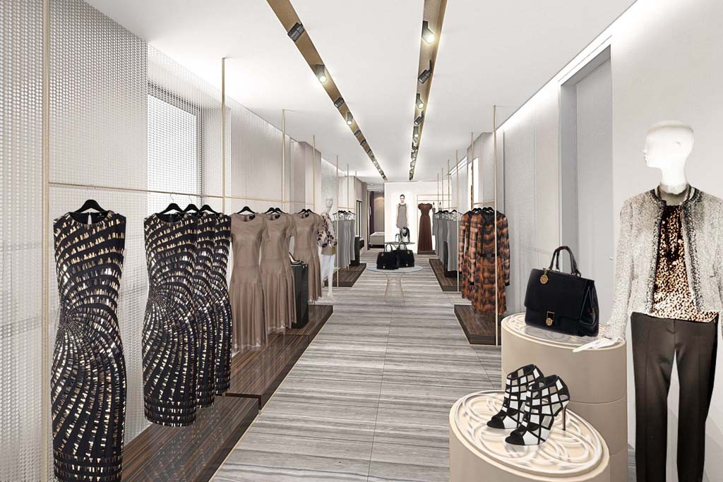 A rendering of the new Rena Lange store on Madison Avenue.