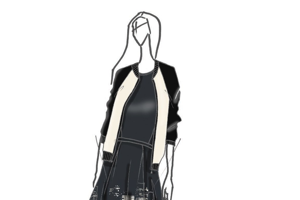 A sketch from the Elie Tahari for DesigNation collection.