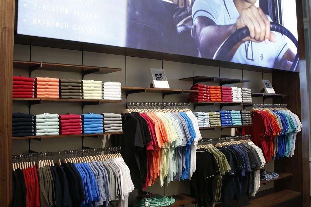 Inside the Original Penguin flagship store in New York.