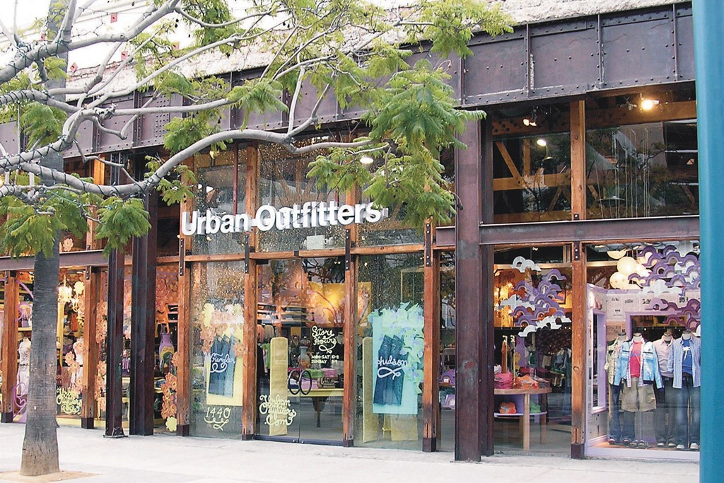 Sales at Urban Outfitters were down 4.2 percent to $398 million.