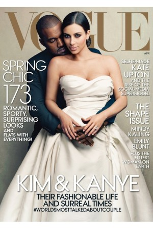 The cover of Vogue's April '14 issue.