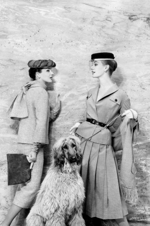 A Vogue image from January 1956 by Eugene Vernier.