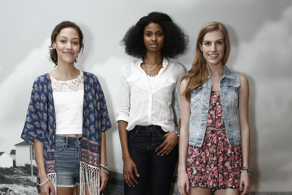 Looks from Abercrombie & Fitch's summer collection.