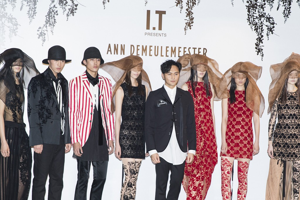 Models in Ann Demeulemeester looks at the Shanghai opening.