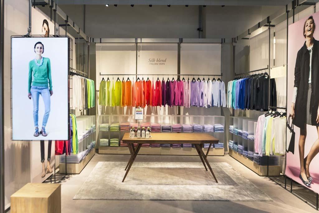 Inside Benetton's new concept store.