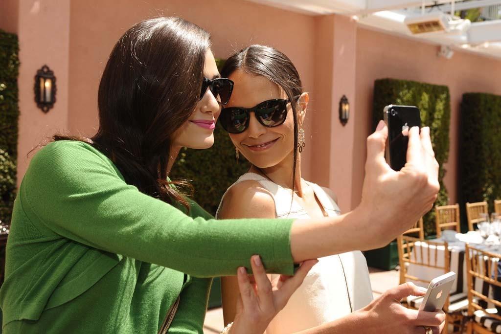 Emmy Rossum and Jordana Brewster both in Carolina Herrera.