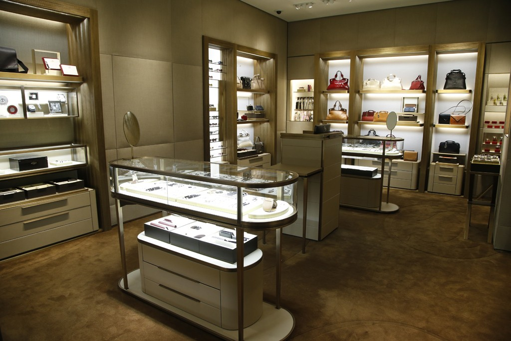 Inside the Cartier boutique in New York.