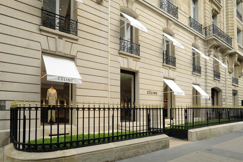 The facade of the new Paris Céline store
