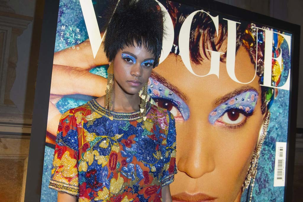 A look re-created for the Vogue Beauty Talents event.