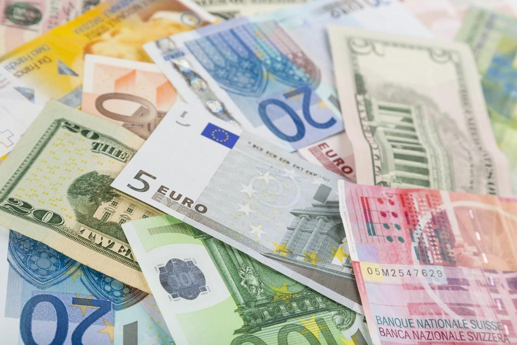 Various currencies.