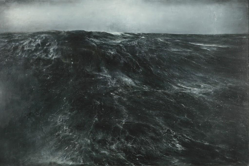 Dries Van Noten discovered Thierry De Cordier's Mer Montée at the Xavier Hufkens gallery in Brussels.