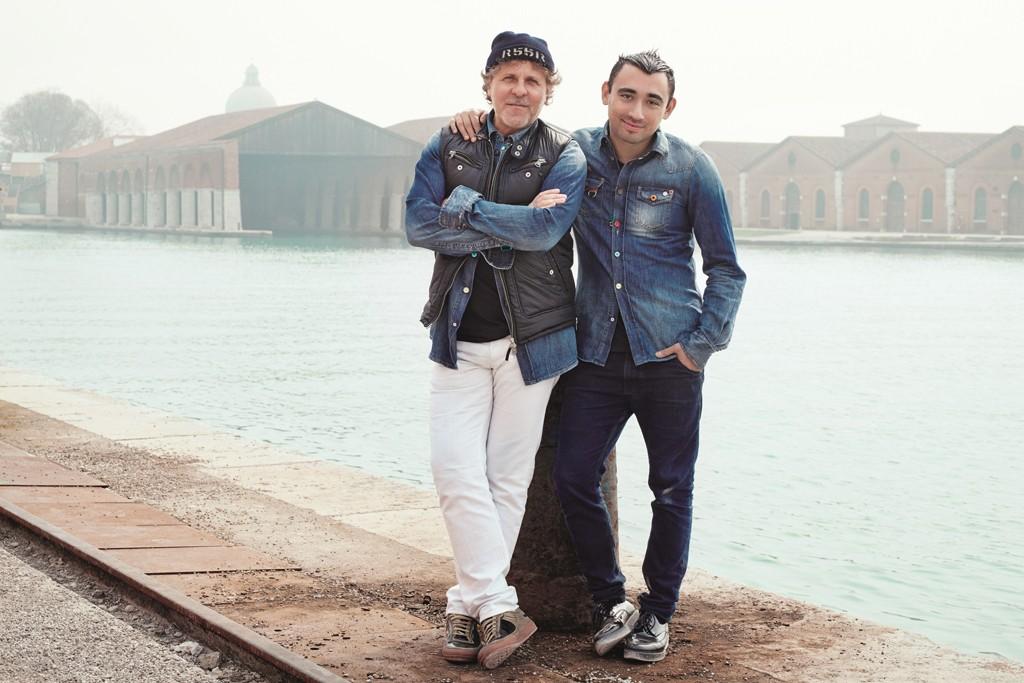 Renzo Rosso and Nicola Formichetti in Venice.