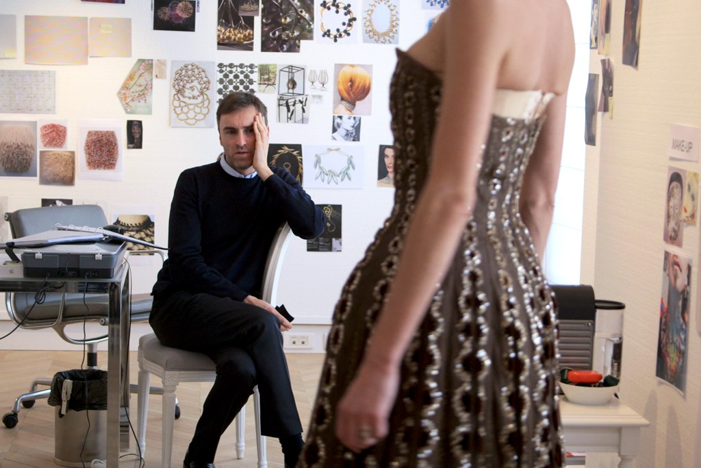 """Raf Simons in a still from """"Dior and I."""""""