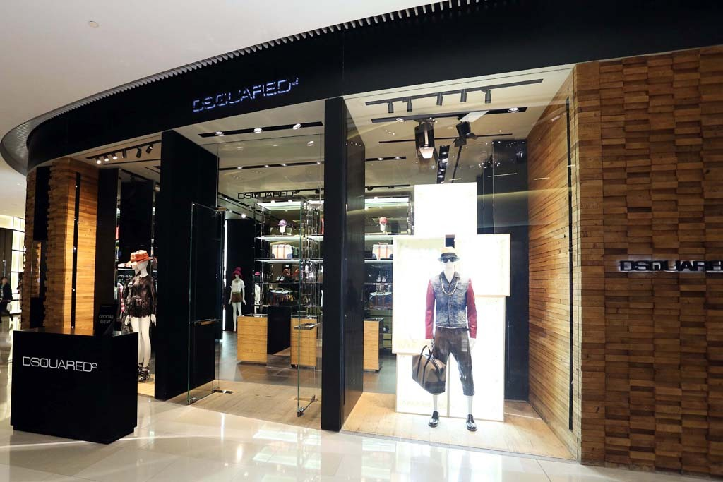 Dsquared2's third store in Shanghai.