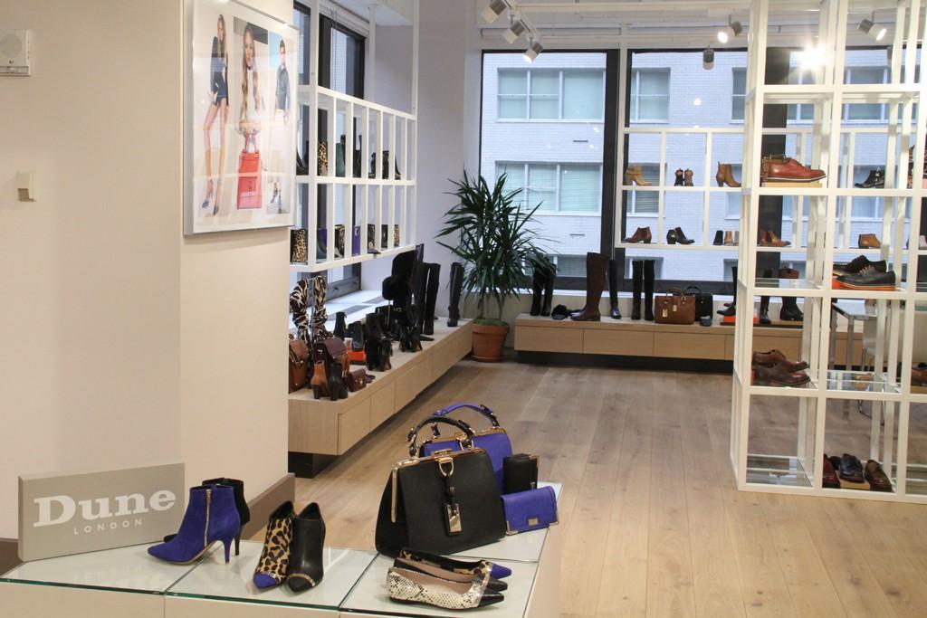 Dune London's New York showroom.