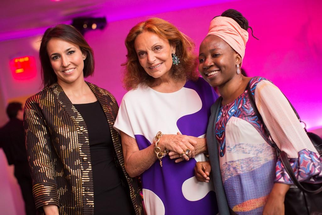 Anne Fulenwider, Diane von Furstenberg and Kah Walla.