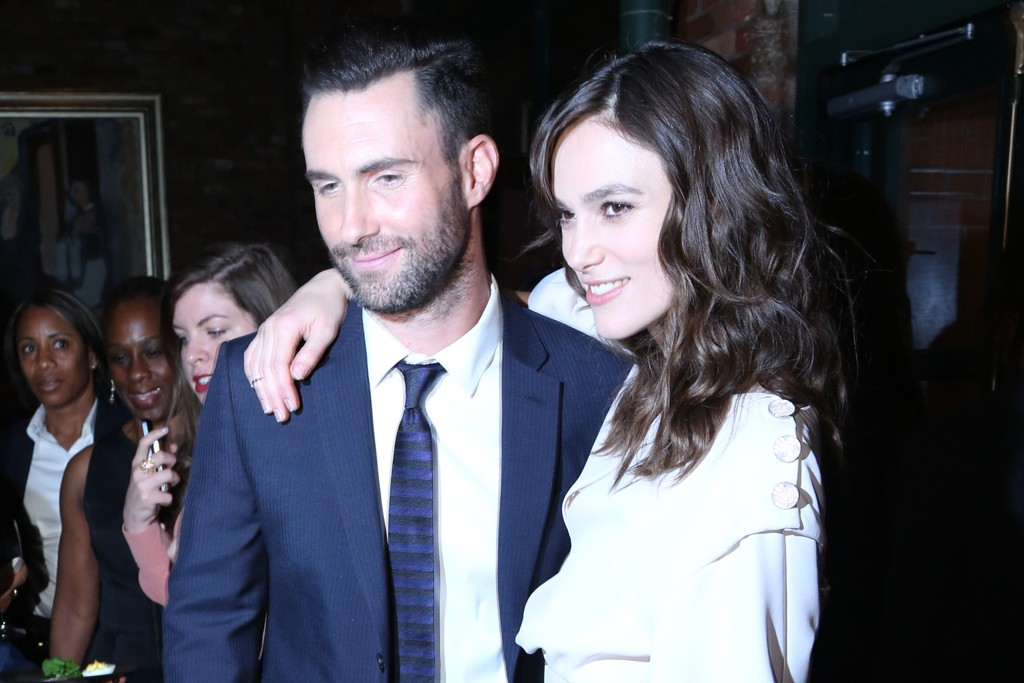 Adam Levine with Keira Knightley in Chanel.