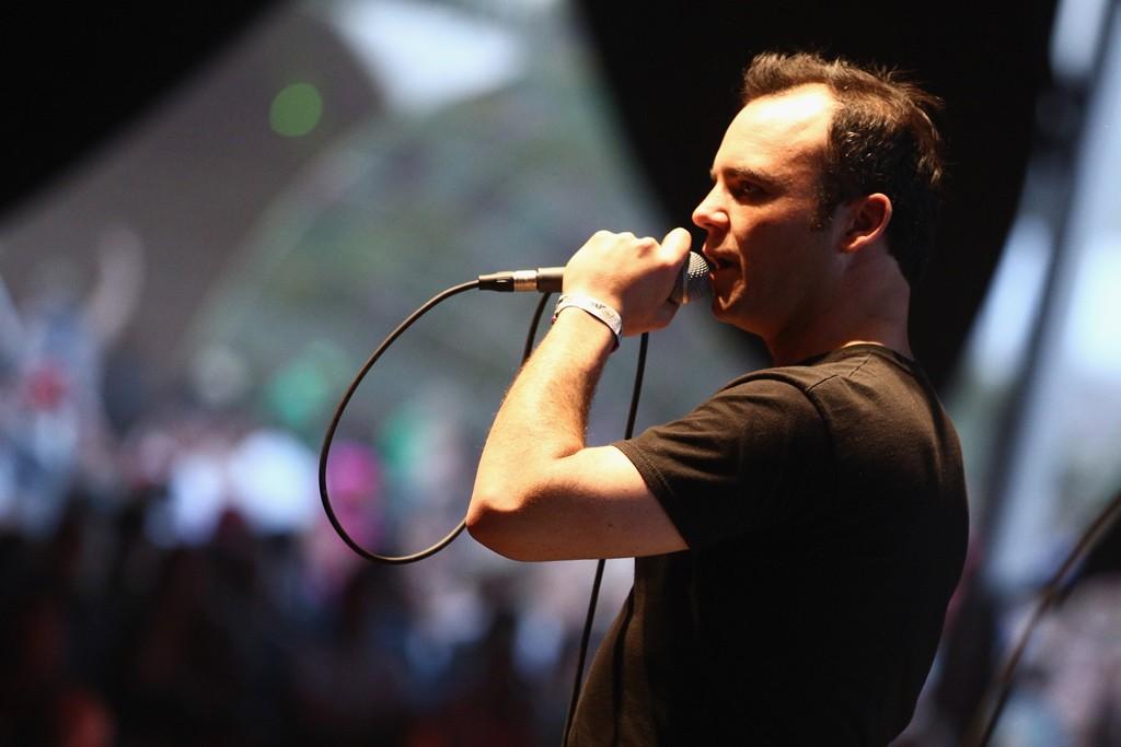 Samuel Herring of Future Islands performing at Coachella.