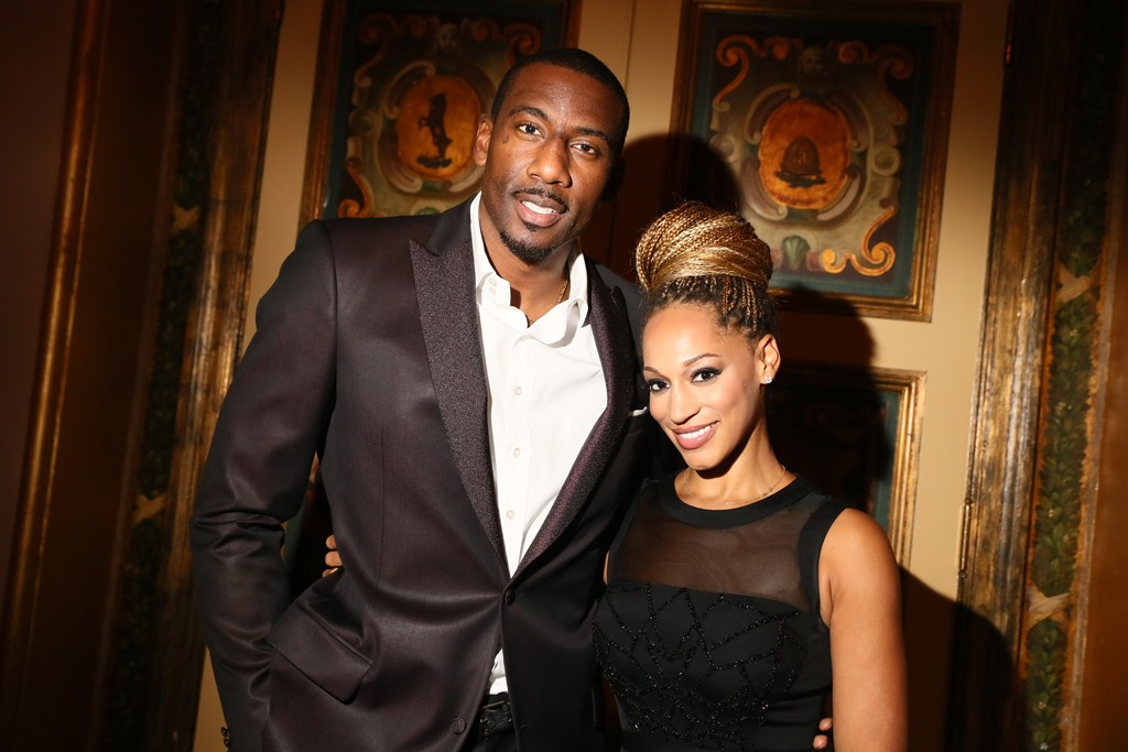 Amar'e and Alexis Stoudemire in Bibhu Mohapatra.