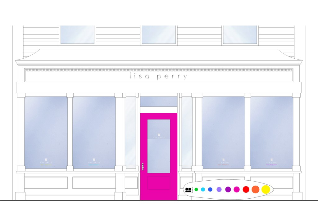 A rendering of Lisa Perry's East Hampton storefront.