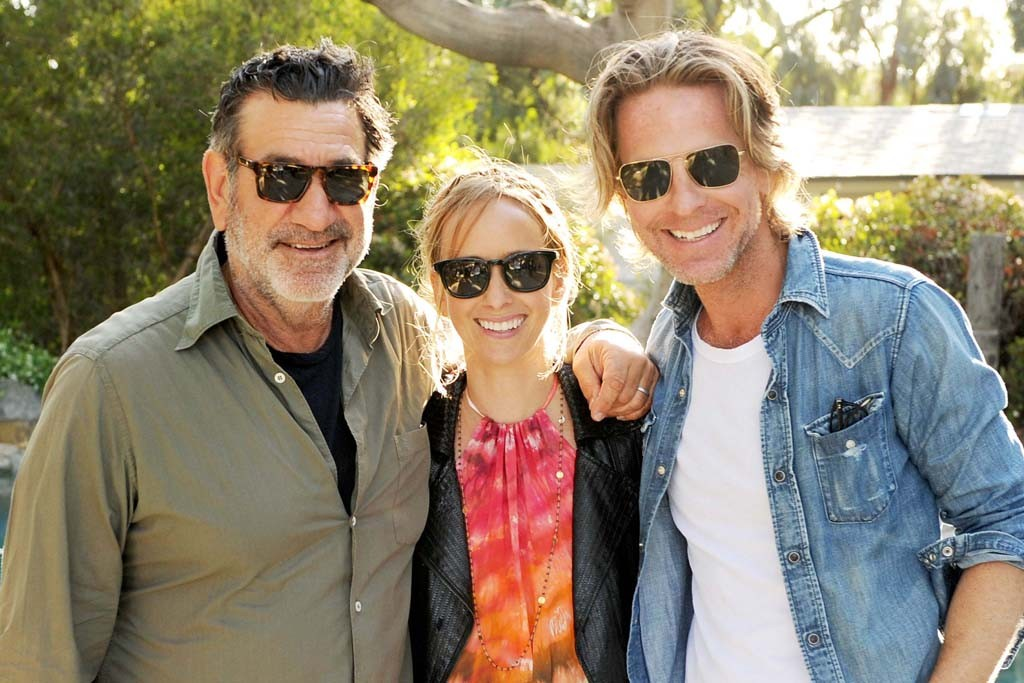 Oliver Peoples' Larry Leight, Daize Shayne Goodwin and David Schulte.