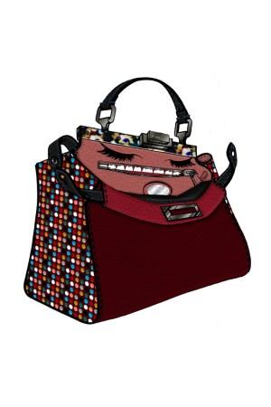 Adele's take on Fendi's Peekaboo bag.