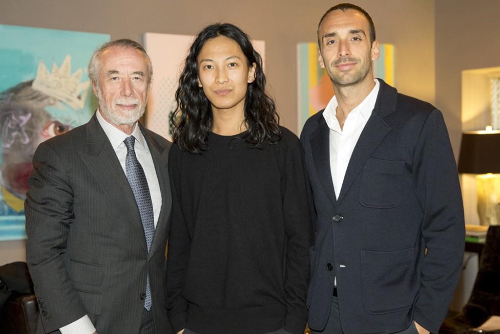 Domenico De Sole, Alexander Wang and Rodrigo Bazan