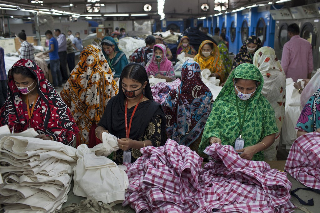 Workers at one of Sparrow Group's factories.