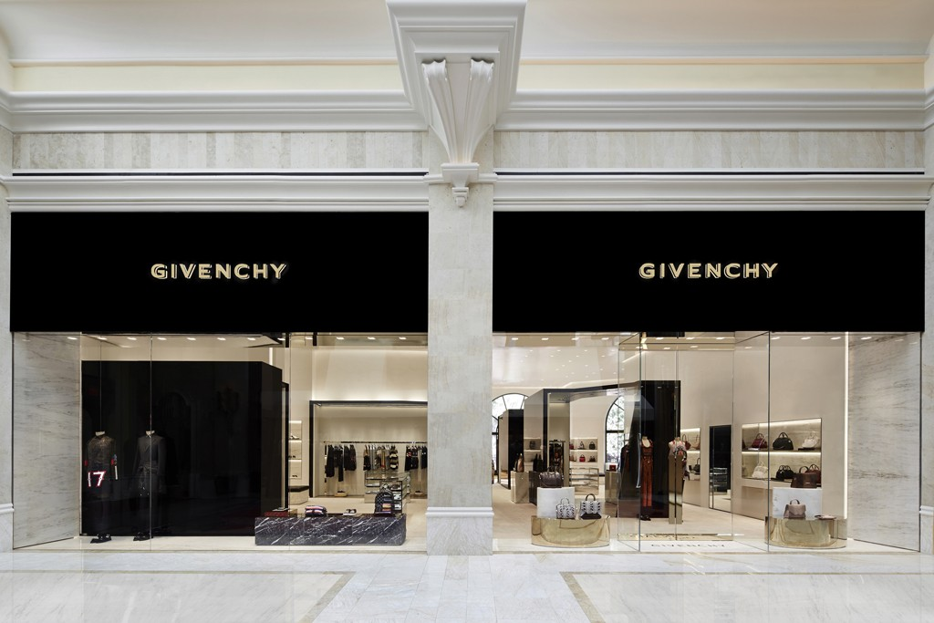 The Givenchy store at the Wynn Resort Promenade in Las Vegas.