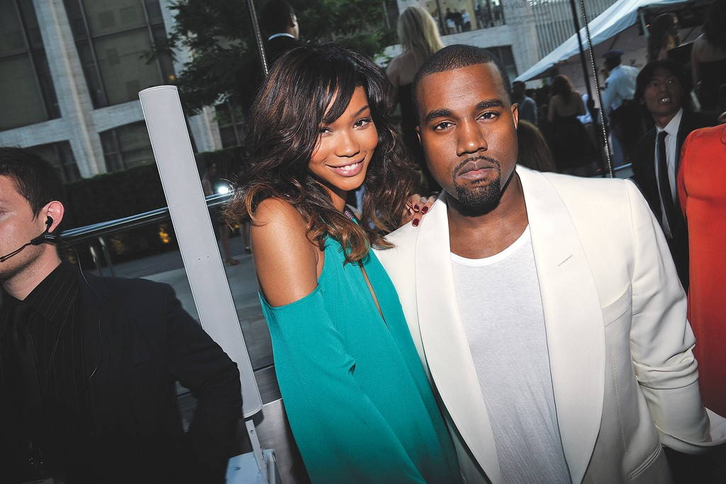 Chanel Iman in BCBG Max Azria with Kanye West, 2011.