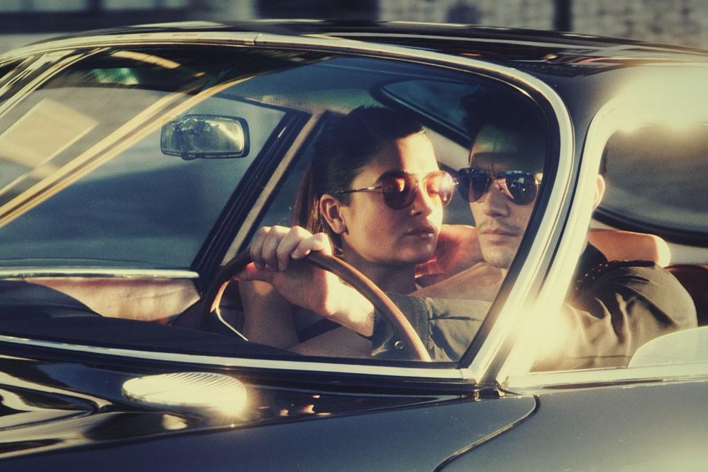 """A still from the Gucci's """"Techno Color Sunglasses"""" video."""