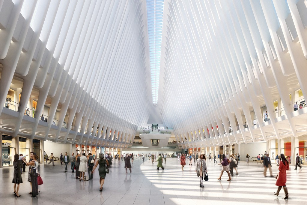 A rendering of the retail component of the World Trade Center, which is a joint venture between Westfield and The Port Authority of New York and New Jersey.