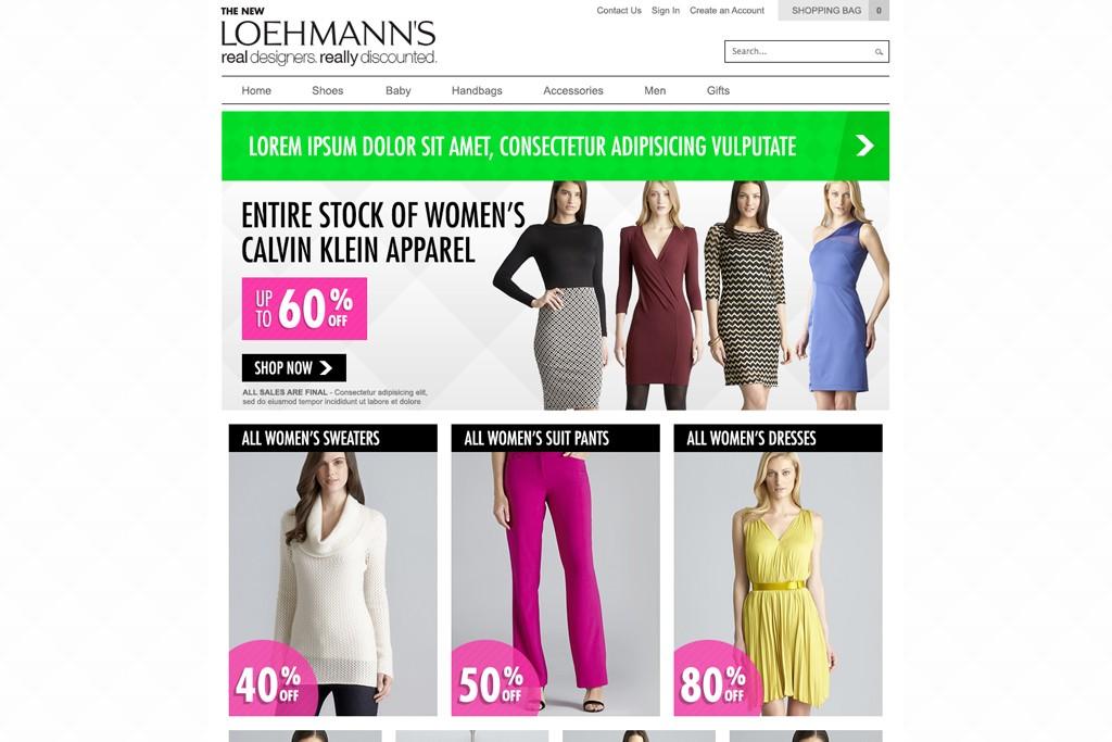 The Loehmann's web site.
