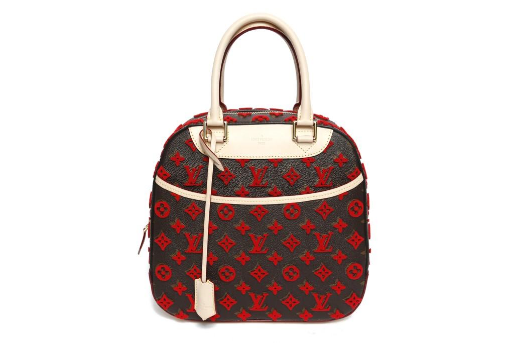 A Louis Vuitton handbag.