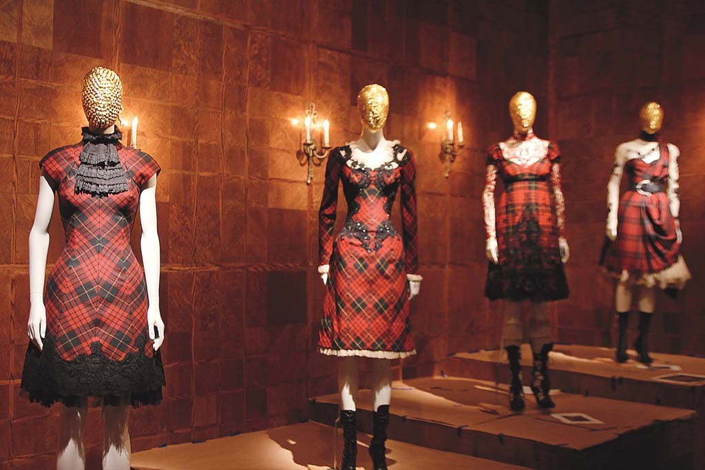 "A view of the ""Alexander McQueen: Savage Beauty"" exhibit at the Metropolitan Museum of Art."