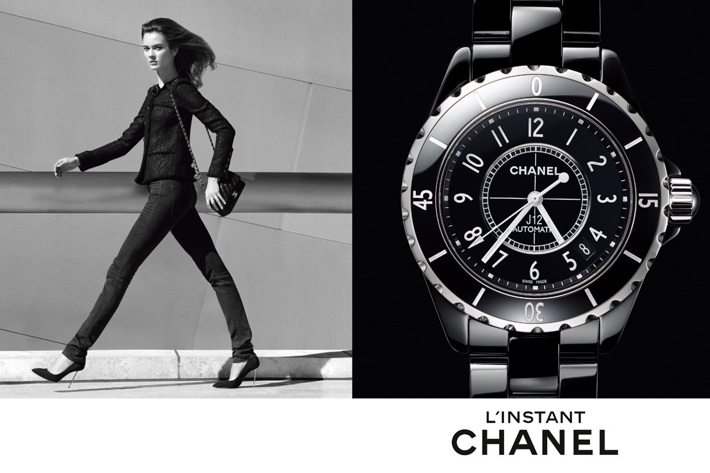 An image from the new Chanel watch campaign shot by Patrick Demarchelier.