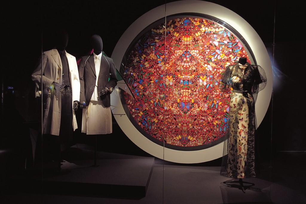 The spectacular Dries Van Noten exhibition at the Musée des Arts Décoratifs celebrates the designer's inspirations, including Damien Hirst and Elsa Schiaparelli.